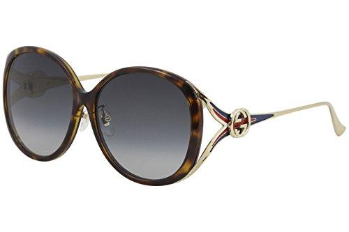 Gucci GG0226SK 004 Gafas de sol, Marrón (4/Grey), 60 para Mujer