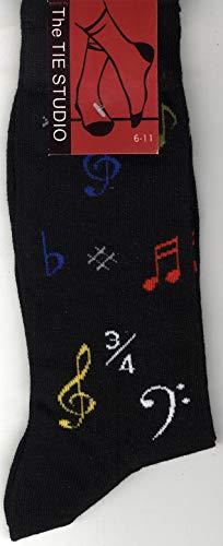 The Tie Studio: Musical Symbol Socks - Black (Size 6-11)