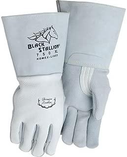 Premium Grain Elkskin Stick Welding Gloves - Nomex Backing, Size X-Large