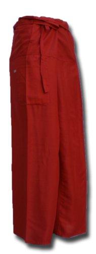 Thai Fisherman Pants Yoga rouge écharpe longue pantalons paréos douces