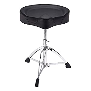 AW Saddle Drum Throne Drummer Stool Round Seat Chair Adjustable Height Folding Stand Percussion Hardware Large