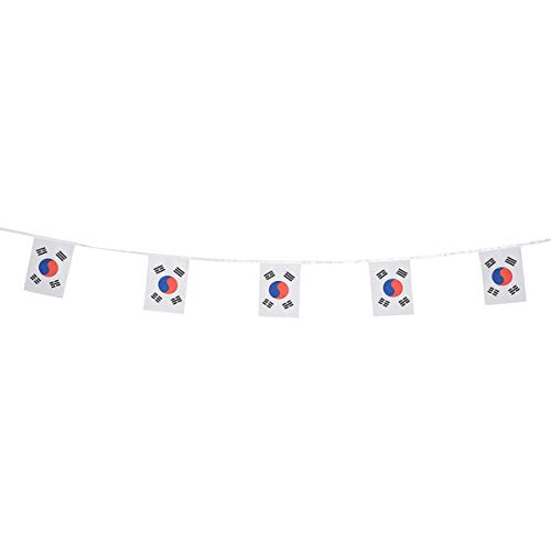 South Korea Flags Korean Small String Flag Banner Mini National Country World Flags Pennant Banners For Party Events Classroom Garden Olympics Festival Grand Opening Bar Sports Clubs Celebration Decor