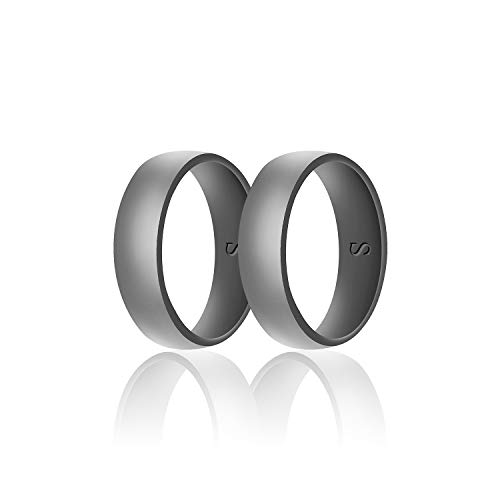 SANXIULY Mens Silicone Wedding Ring&Durable Rubber...