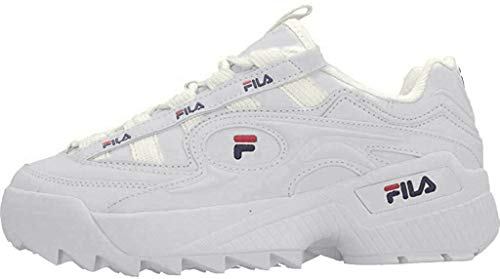 FILA Damen D-Formation wmn Sneaker, White Navy Red, 38 EU