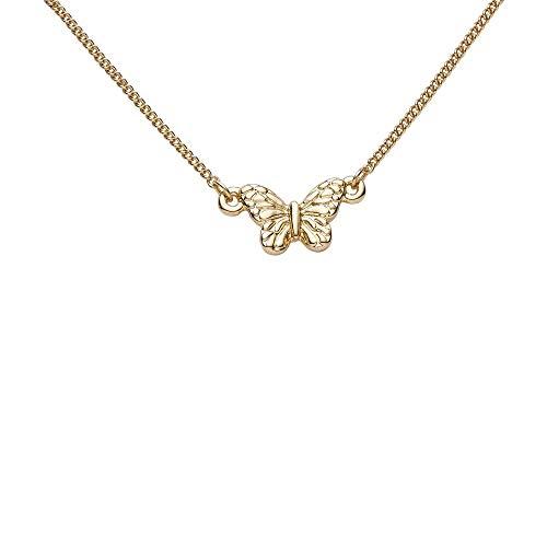 Draeger Paris – Pulsera de fantasía de metal dorado, diseño de mariposa, sin níquel, 20 cm, ideal para regalo personalizado y diseño