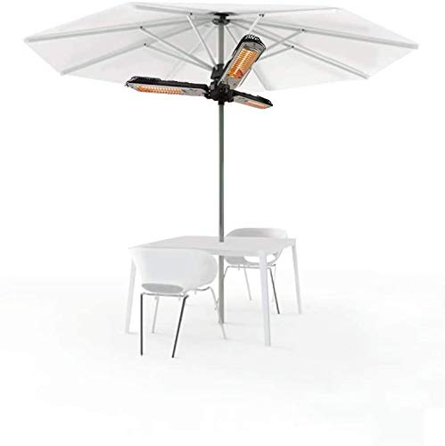Patio Parasol Umbrellas Electric Heater, Infrared Folding Outdoor Space heaters, with Three Power Settings,Black