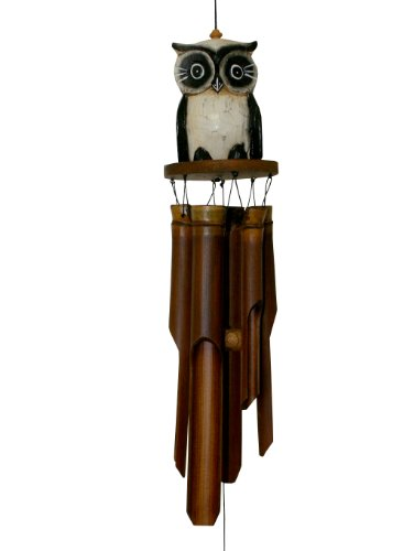 Cohasset Gifts Cohasset 246 Tan Oscar Owl Bamboo Wind Chime