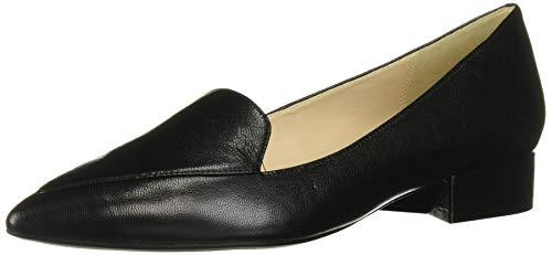 Cole Haan Women's DELLORA Skimmer Ballet Flat, Black Leather, 6.5 B US