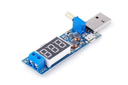 DC-DC USB 5V 9V 12V (3.5V-12V) auf 3V 5V 6V 9V 12V 24V (1,2-24V) Step-up Boost Converter Spannungswandler Modul verstellbar