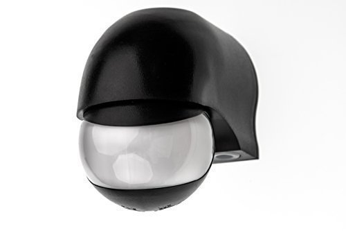 HUBER MOTION 3 Infrarot Bewegungsmelder 180° Innen/Außen Bewegungssensor IP44 I 230V Bewegungsmelder LED geeignet, horizontal/vertikal verstellbar, schwarz