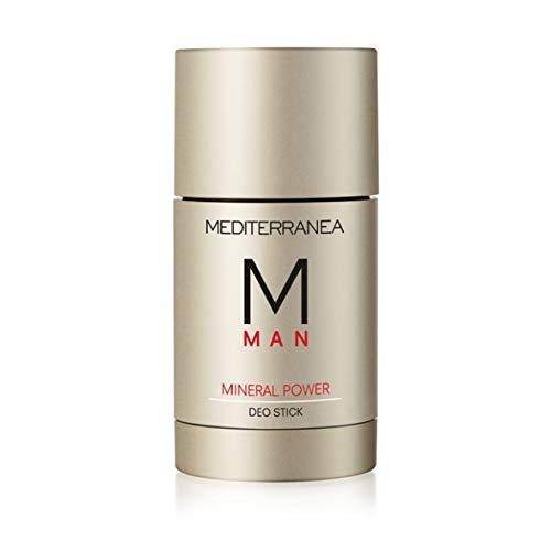 Mediterranea Man - Deodorante Stick - Deodorante Uomo con Azione Idratante, Copre i Cattivi Odori - Con Acqua di Mare e Olio di Oliva per una Pelle Morbida e Idratata - 75 ml