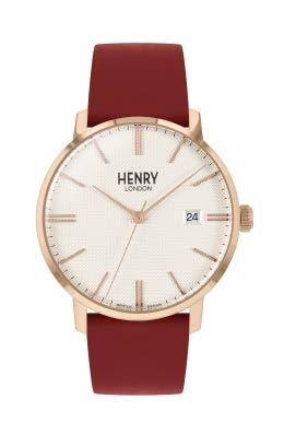 Henry London Orologio Analogico Quarzo Unisex Adulto con Cinturino in Pelle HL40-S-0402