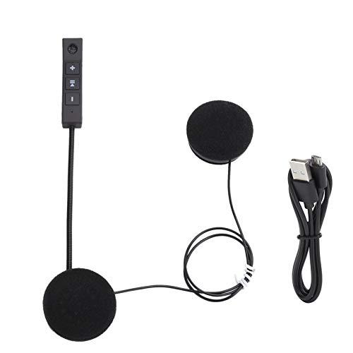 Limouyin Casco de Motocicleta Suave Auriculares Bluetooth Auriculares Deportivos inalámbricos Motocicleta con micrófono Estéreo Reducción de Ruido(BT8)