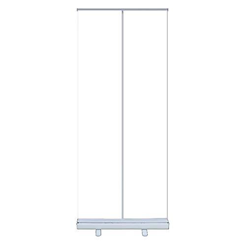 Cnley PVC Transparent Roll Up Portable Partition Divider, Rensa Skärmvägg, Roll-Up Banner, Lämplig för kontor, Salong, Klinik, Nagelsalong och restaurang (Size : Plastic steel 60 * 160)