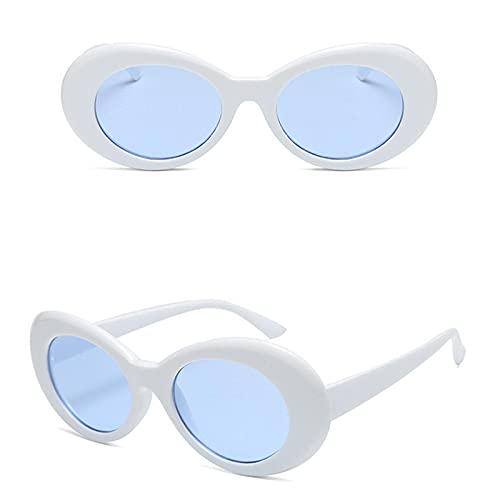 Moda Gafas Gafas Hombres Mujeres Diseñador De La Marca De Lujo Gafas De Sol Ovaladas Mujer Hombre Gafas De Sol Uv400 Whiteblue