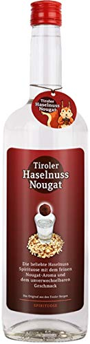 Original Tiroler Haselnuss Nougat Schnaps (1 x 1.00 l)