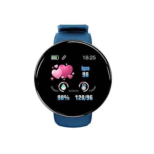 """MAWOLY Smartwatch Orologio Impermeabile Intelligente 1.44"""",Cardiofrequenzimetro Monitoraggio del Sonno Gestione dello Stress iOS e Android,Uomo,Donna(Blu)"""