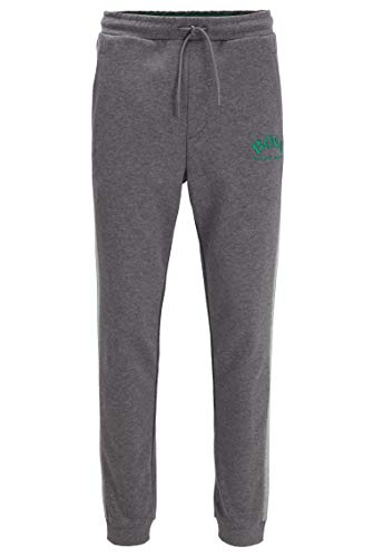 BOSS Herren Hadiko Slim-Fit Jogginghose mit geschwungenem Logo