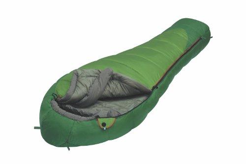 ALEXIKA Unisex-Adult Schlafsack Mountain Wide, linke Reißverschluss Outdoor, grün/grau, 230 x 90