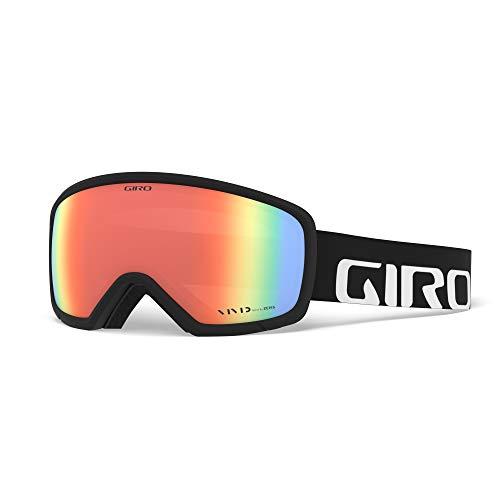 Giro Snow Unisex– Erwachsene Ringo Skibrille, Black Wordmark Vivid Infrared, Einheitsgröße