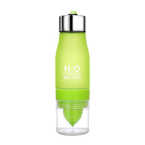 guangruiorrty Exprimidor manual para interiores y exteriores, botella de agua verde
