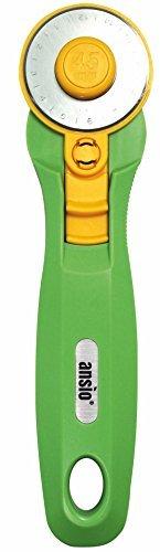 Cortador rotativo-45mm | Acero inoxidable Premium Sharp Blade | Perfeccione para acolchar, arte, confección (verde lima)