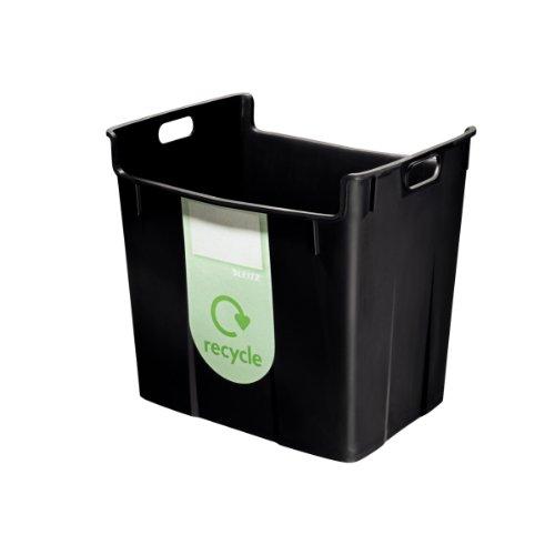 Leitz 52090095 recyclingbak, 40l, polypropyleen, zwart