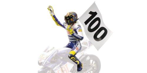 Minichamps 312090176 Pilota V. Rossi 100 Gp Wins Gp Assen 2009 W.C. 1/12 Valentino Rossi Collection