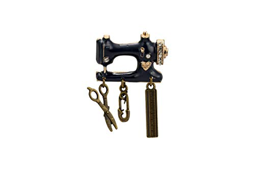 Knighthood Vintage Sewing Machine Charms Brooch