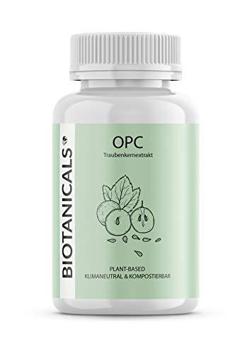 OPC Traubenkernextrakt (150 Kapseln) - Pflanzliches (OPC) Traubenkern Extrakt aus französischen Weintrauben - laborgeprüft und vegan