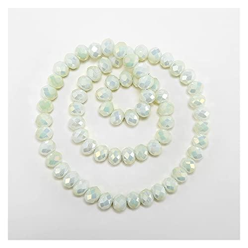 BOSAIYA BL 1 Strands 3x4mm 135pcs Colores de Dos Tonos Cristal Rondelle Glass Facely Beads para la joyería Hacer Joyería DIY Accesorios TL727 (Color : 31)