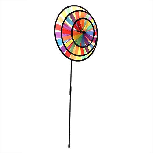 Naroote 【𝐇𝐚𝐩𝐩𝒚 𝐍𝐞𝒘 𝐘𝐞𝐚𝐫 𝐆𝐢𝐟𝐭】 Blumen Windmühle,Windrad Dreirad Windm¨¹hle, Multicolor Regenbogen Windrad Whirligig Kinder Spielzeug Garten Party Outdoor Decor