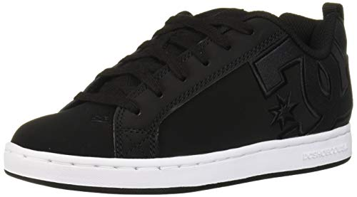 DC womens Court Graffik Skate Shoe, Black/White, 5.5 US