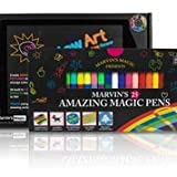 Marvin's Magic - Arts & Crafts Multipack | Incluye juego de arte para niños y bolígrafos mágicos increíbles, crear letras 3D o escribir mensajes secretos | Set de arte para niños iluminado - Negro