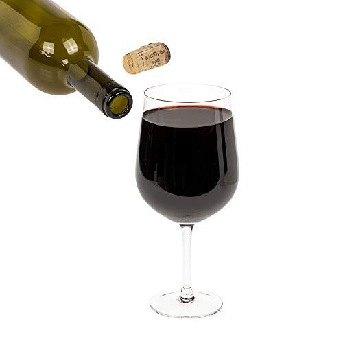 Kopfsalat Copa de vino XXL gigante – para una botella de vino blanco o rojo – 750 ml de capacidad