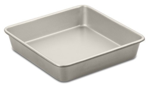 Cuisinart AMB-9SCKCH 9-Inch Chef's Classic Nonstick Bakeware Square Cake Pan, Champagne