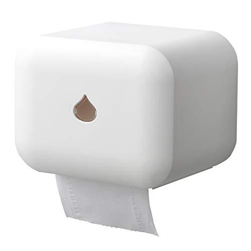 Busy Mom Selbstklebender Toilettenpapierhalter Selbstklebender, wasserdichter, an der Wand befestigter Toilettenpapierhalter für das Smartphone (Weiß)