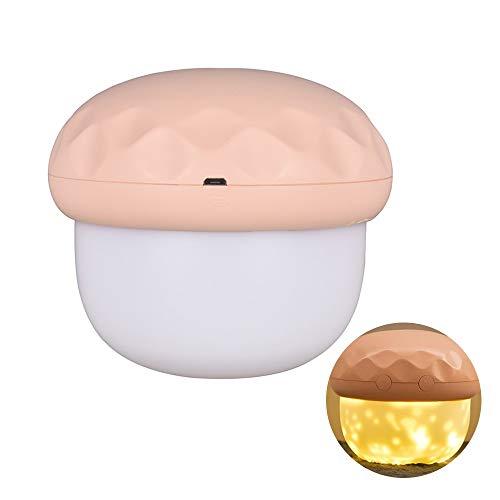 LYR Lámpara de proyección LED de Carga USB 2 en 1 Estrella Proyector de luz de Noche para niños Dormitorio Dormitorio Decoración de Fiesta-Default