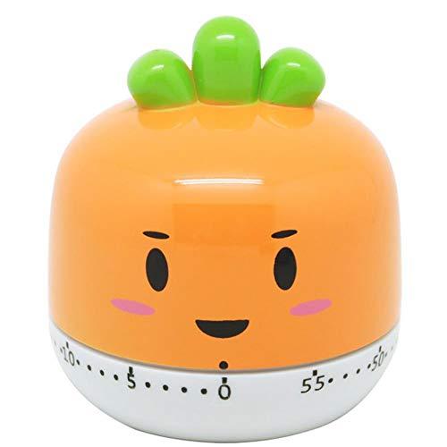 Larew Temporizador de cocina 360 grados Herramientas de cocina Manual Mecánico Cuenta atrás Temporizador de cocina Temporizador 60 minutos para hornear (naranja)