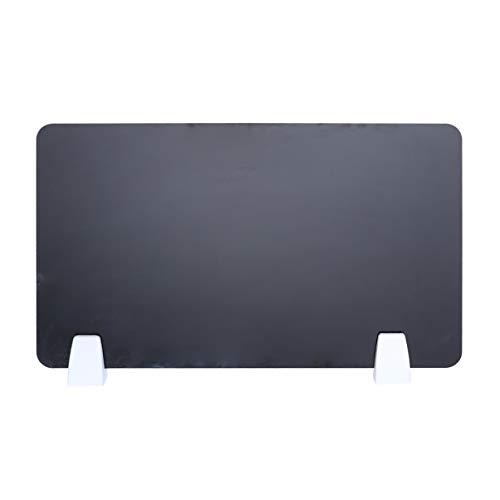 TOYANDONA Divisor de Privacidad Separador de Oficina de Plástico Panel Separador de Escritorio Escudos de Tablero Divisor de Escritorio para Tareas de Prueba 50Cmx30cm (Negro)