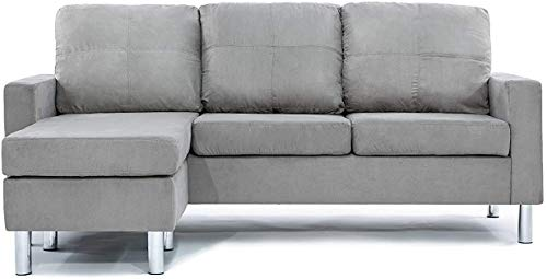 Comfortable Sofa, Couch with Solid Wood Frame and Breathable Linen Fabric, for Guest Room, Teenager