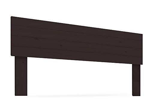 LA WEB DEL COLCHON - Cabecero de Madera Rústico Vintage para Cama de 135 (145 x 90 cms.) Barnizado Nogal | Cabeceros Madera | Dormitorio Matrimonio | Cabezal Cama |Estilo nórdico