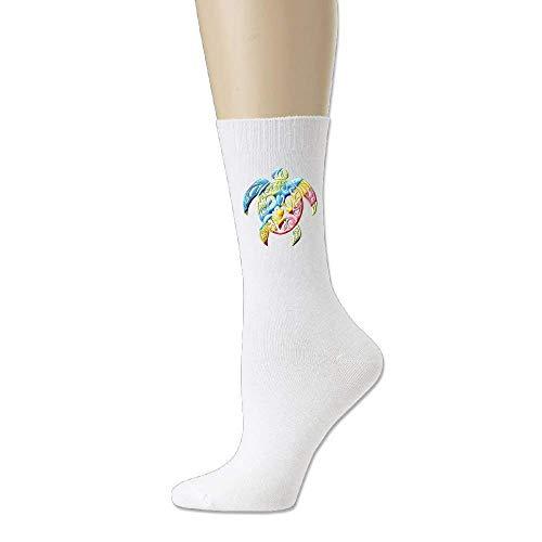 Voxpkrs Colored Turtle Unisex Fine Casual Leisure Sock Cotton Socks