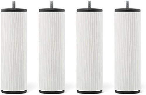 MyQuintus, PREMIUM Set de 4 Pieds de Lit, Métal, Blanc, 6 x 6 x 20 cm
