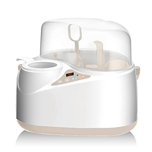 Dfghbn Calentador de botella inteligente con múltiples botellas, calentador de leche y leche caliente (color: blanco, tamaño: 25 x 23 cm)