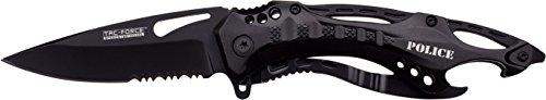 TAC FORCE Adulti Coltello Outdoor Alluminio Black Liner, Coltello Lunghezza Lama: 8,3tafo VT-1176, Nero, 8.3cm
