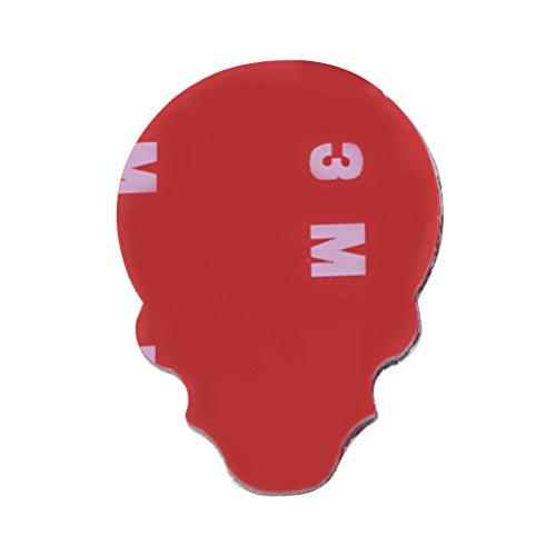 Astra Depot 3D Chrome Bone Red Eyes Metal Skull Emblem Sticker Decal Logo Fender Hood Car Motorcycle (Pack of 2)