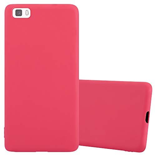 Cadorabo Funda para Huawei P8 Lite en Candy Rojo - Cubierta Proteccíon de Silicona TPU Delgada e Flexible con Antichoque - Gel Case Cover Carcasa Ligera