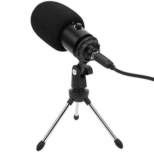 Jingyig Microphone Kit, Condenser Microphone Bundle, Microphone with Tripod Stand Multipurpose for Phone Recording Computer PC