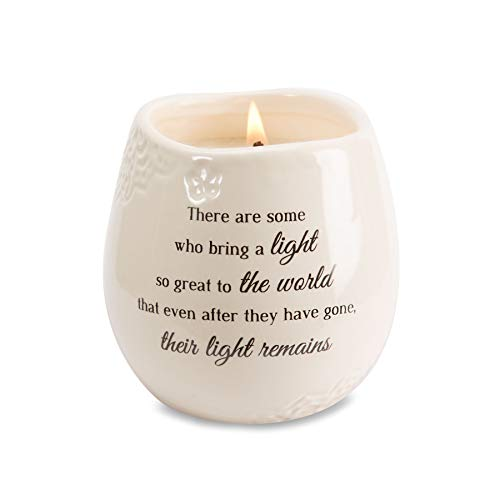 Pavilion Gift Company 19176 In Memory Light Remains Ceramic Soy Wax Candle